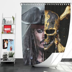Pirates of the Caribbean Johnny Depp Shower Curtain