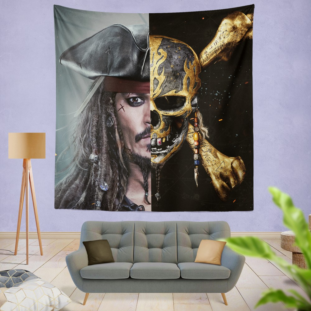 Pirates Of The Caribbean Johnny Depp Wall Hanging Tapestry