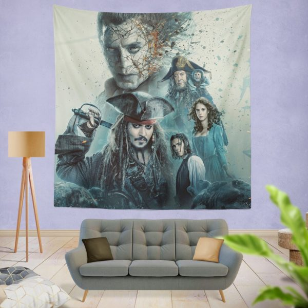 Pirates of the Caribbean Salazar Revenge Wall Hanging Tapestry