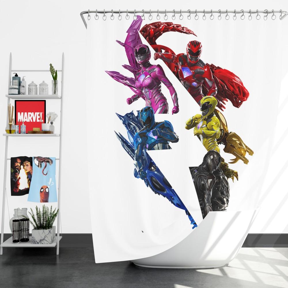 Power Rangers 5 Movie Shower Curtain
