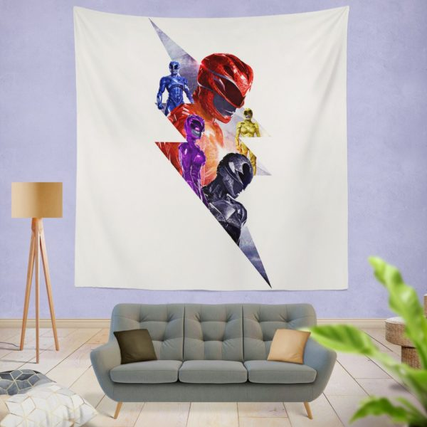 Power Rangers 5 Movie Themed Wall Hanging Tapestry