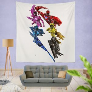 Power Rangers 5 Movie Wall Hanging Tapestry