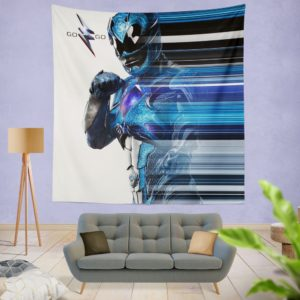 Power Rangers the Blue Ranger Wall Hanging Tapestry