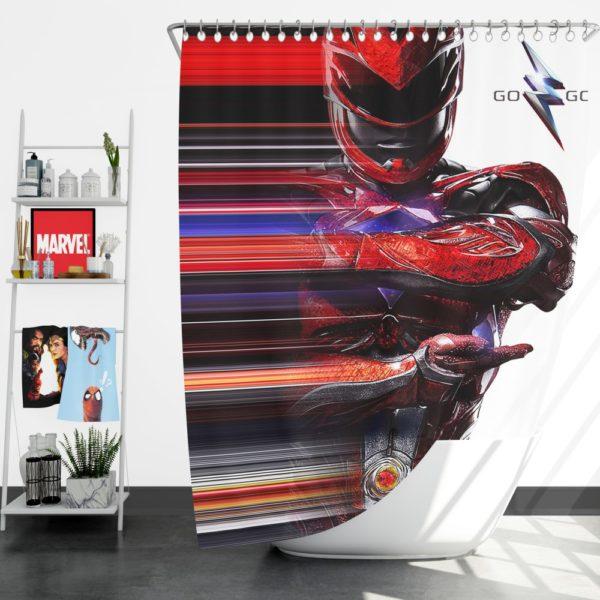 Power Rangers the Red Ranger Shower Curtain
