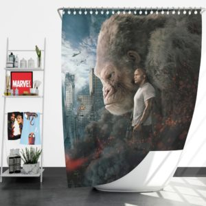 Rampage Dwayne Johnson Movie Shower Curtain