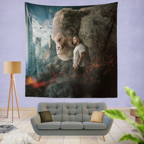 Rampage Dwayne Johnson Movie Wall Hanging Tapestry