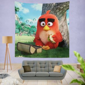 Red Angry Birds Movie Wall Hanging Tapestry