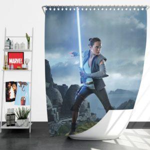 Rey Star Wars The Last Jedi Daisy Ridley Shower Curtain