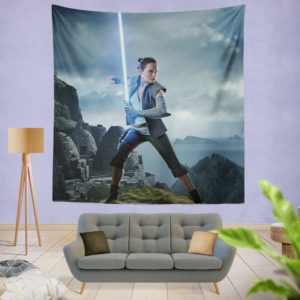 Rey Star Wars The Last Jedi Daisy Ridley Wall Hanging Tapestry