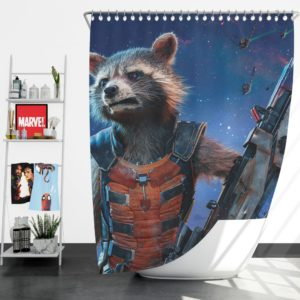 Rocket Raccoon Guardians of the Galaxy Shower Curtain