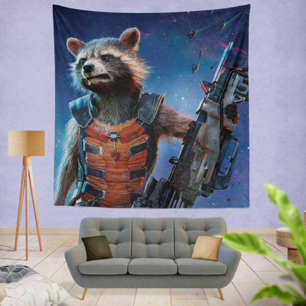 Rocket Raccoon Guardians of the Galaxy Wall Hanging Tapestry