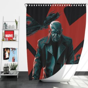 Samuel L Jackson Nick Fury Marvel Comics Shower Curtain