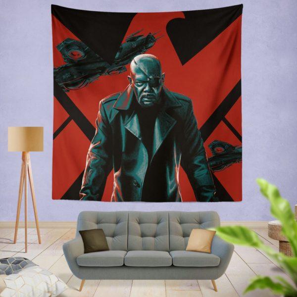 Samuel L Jackson Nick Fury Marvel Comics Wall Hanging Tapestry