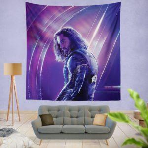 Sebastian Stan Bucky Barnes White Marvel Avenger Wall Hanging Tapestry