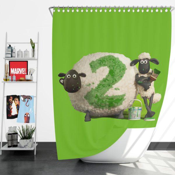 Shaun The Sheep movie Shower Curtain