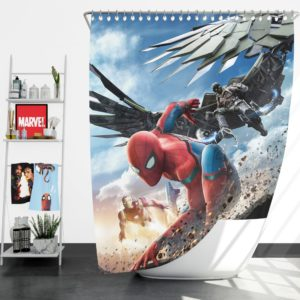 Spider Man Home Coming  Movie Themed Shower Curtain