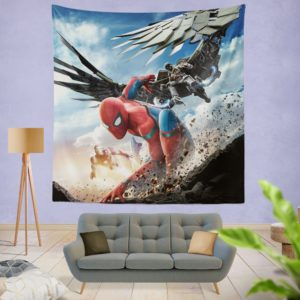 Spider Man Home Coming Movie Themed Wall Hanging Tapestry