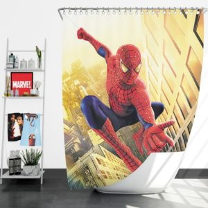 Spider Man Marvel Comics Avengers Shower Curtain