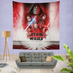 Star Wars The Last Jedi Movie Themed Wall Hanging Tapestry