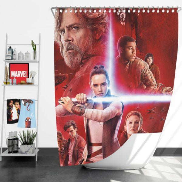 Star Wars The Last Jedi Shower Curtain