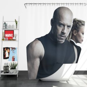The Fate of the Furious Vin Diesel Charlize Theron Shower Curtain