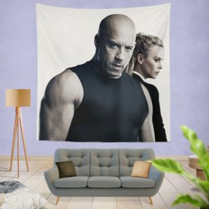 The Fate of the Furious Vin Diesel Charlize Theron Wall Hanging Tapestry