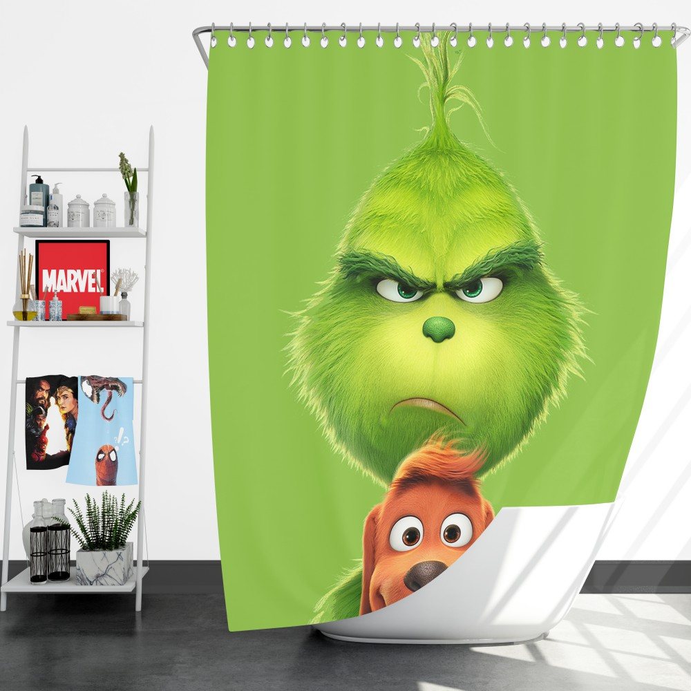 The Grinch Movie Shower Curtain Ebeddingsets