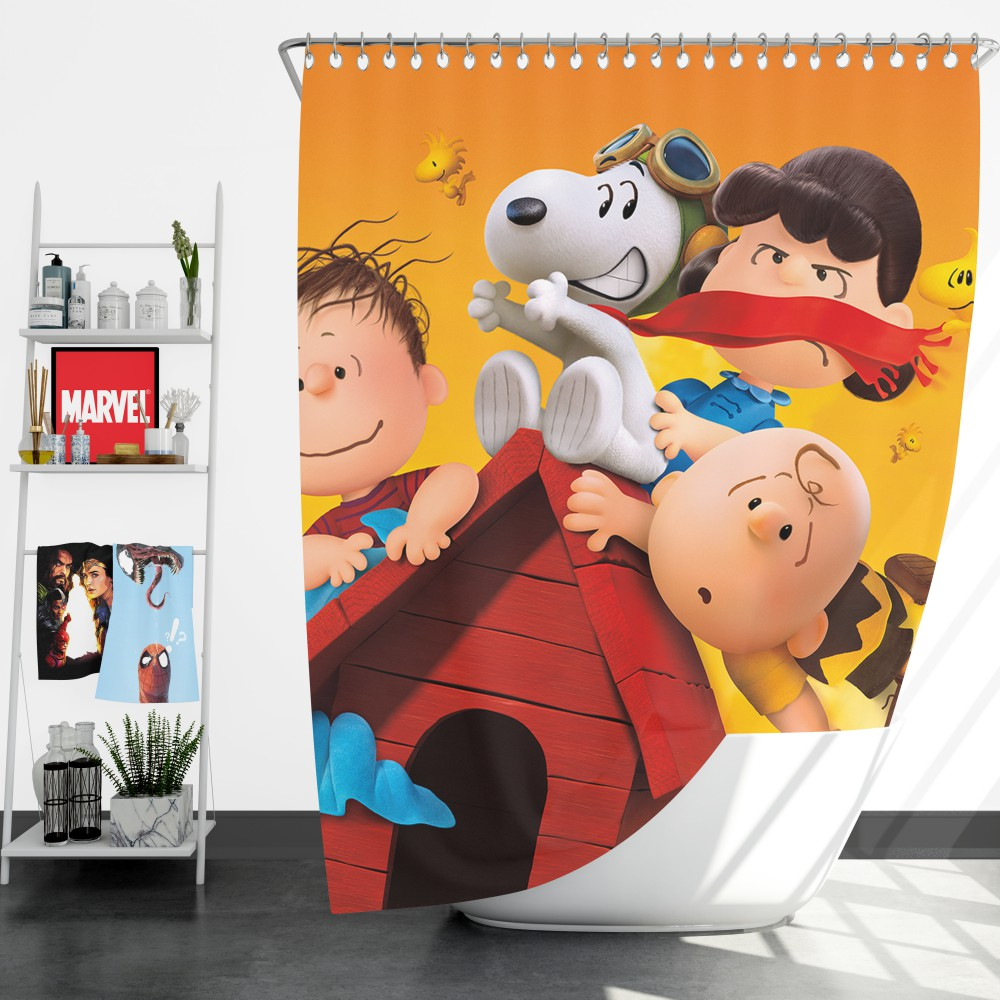 The Peanuts Animation Movie Shower Curtain