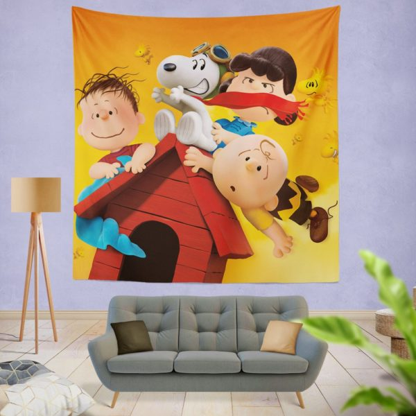 The Peanuts Animation Movie Wall Hanging Tapestry
