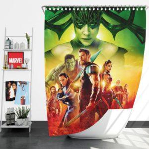Thor Ragnarok Super Heroes Movie Shower Curtain