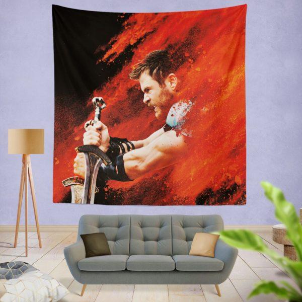 Thor Ragnarok Thor Chris Hemsworth Wall Hanging Tapestry