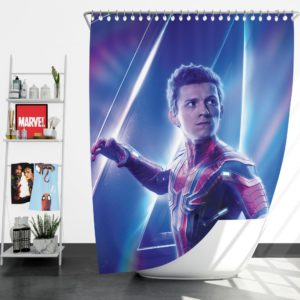 Tom Holland Peter Parker Spider Man Shower Curtain