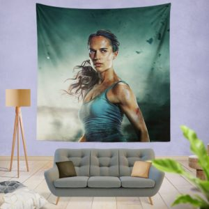Tomb Raider Alicia Vikander Lara Croft Blanket Wall Hanging Tapestry