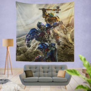 Transformers Bumblebee Optimus Prime Fight Wall Hanging Tapestry