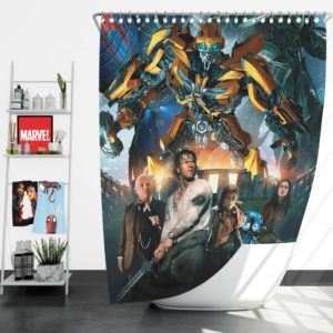 Transformers the Last Knight Bumblebee Mark Wahlberg Shower Curtain