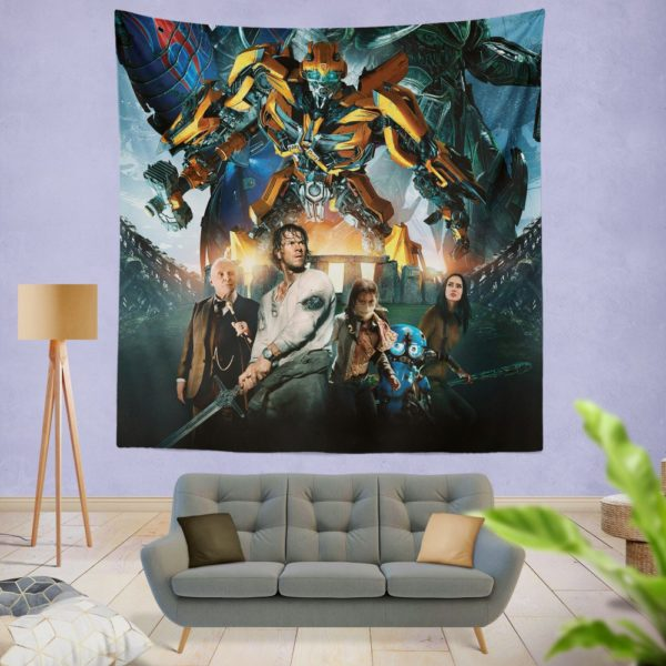 Transformers the Last Knight Bumblebee Mark Wahlberg Wall Hanging Tapestry