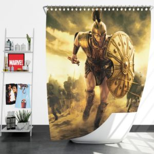 Troy Achilles Brad Pitt Adventure Shower Curtain