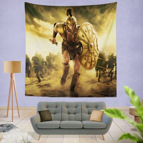 Troy Achilles Brad Pitt Adventure Wall Hanging Tapestry
