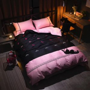 Victorias Secret Pink Embroidery Egyptian Cotton Bedding Set Model 5 2 300x300 - Victoria's Secret Pink Embroidery Egyptian Cotton Bedding Set - Model 5