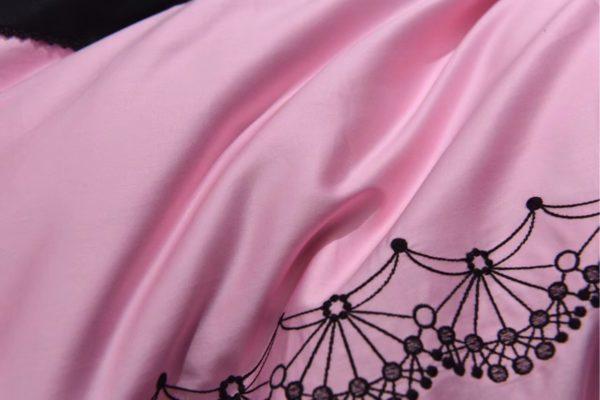 Victorias Secret Pink Embroidery Egyptian Cotton Bedding Set Model 5 7