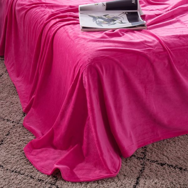 Victorias Secret Pink Embroidery Flannel Bedding Set Model 4 11 600x600 - Victoria's Secret Pink Embroidery Flannel Bedding Set - Model 4