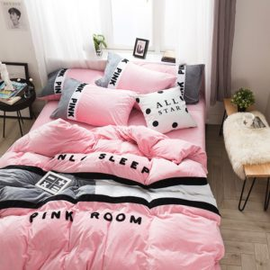 Victoria's Secret Pink Embroidery Flannel Bedding Set - Model 6