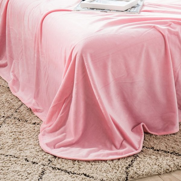 Victorias Secret Pink Embroidery Flannel Bedding Set Model 6 13