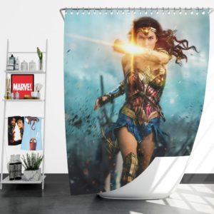 Wonder Woman Diana Prince Gal Gadot Shower Curtain
