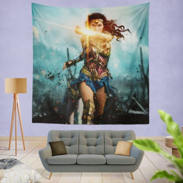 Wonder Woman Diana Prince Gal Gadot Wall Hanging Tapestry