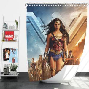 Wonder Woman Gal Gadot Shower Curtain