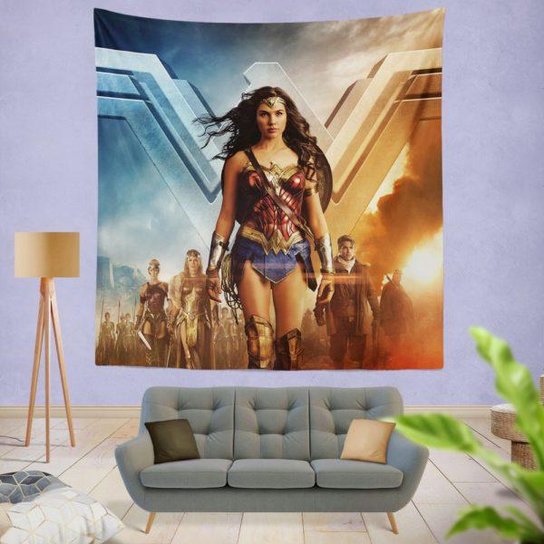 Wonder Woman Gal Gadot Wall Hanging Tapestry