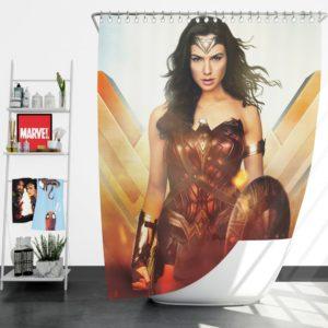 Wonder Woman Rise of the Warrior Movie Shower Curtain