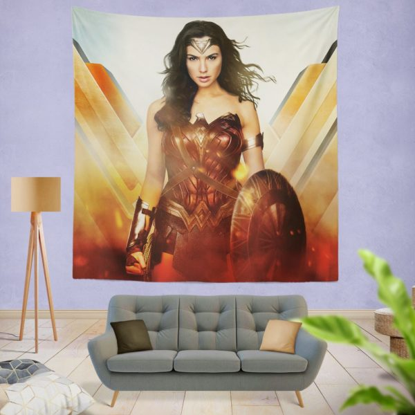 Wonder Woman Rise of the Warrior Movie Wall Hanging Tapestry