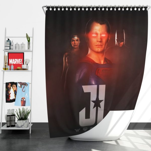 Wonder Woman Superman Batman Shower Curtain